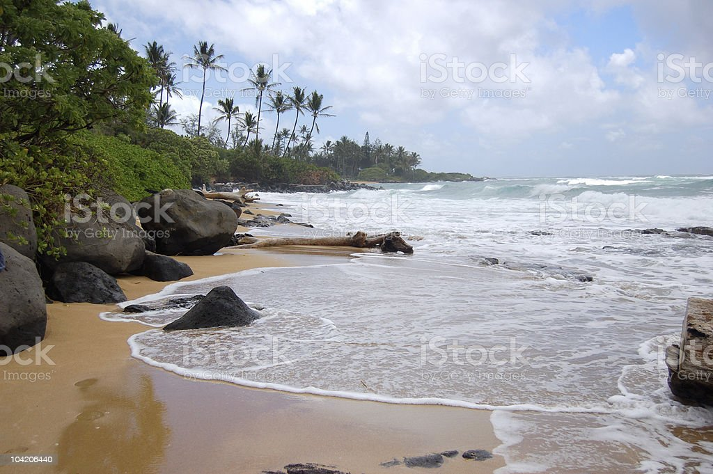 Private beach royalty-free stock photo