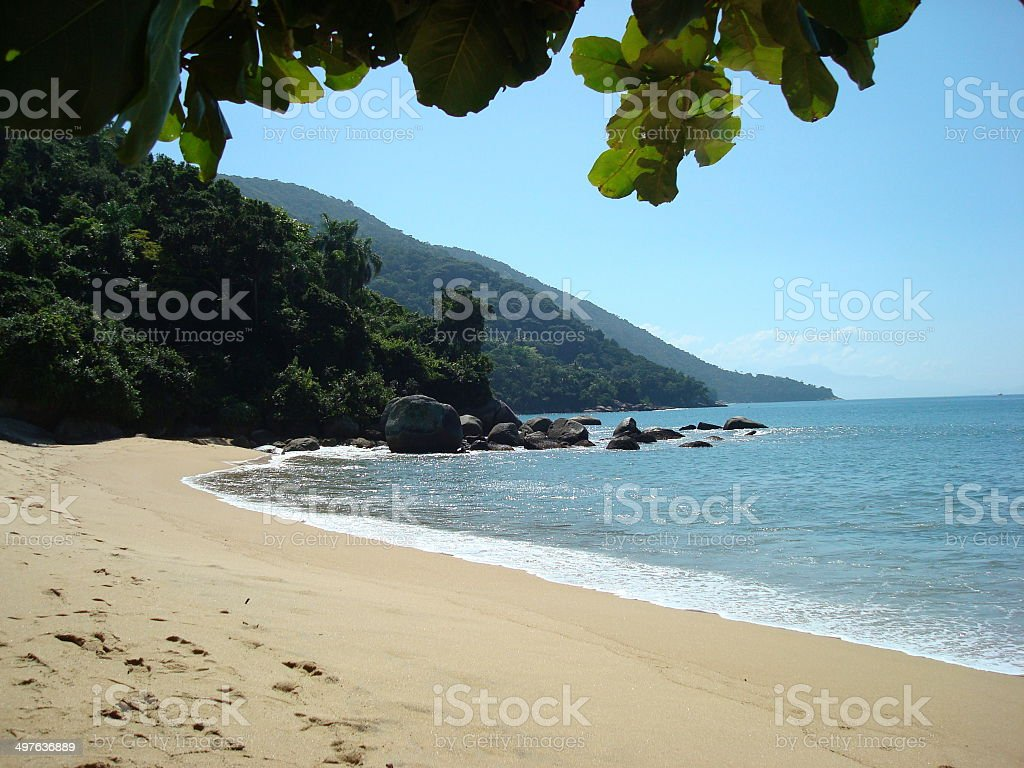 Private beach. stock photo