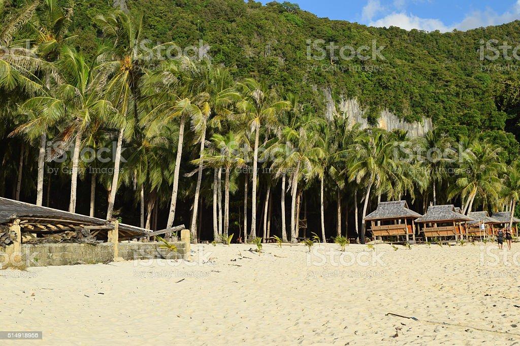 Private beach. stock photo