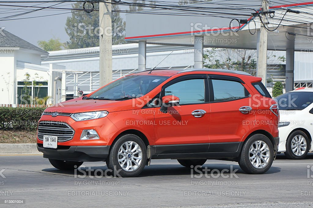 Private car, Ford Ecosport, Suv car for Urban User. stock photo