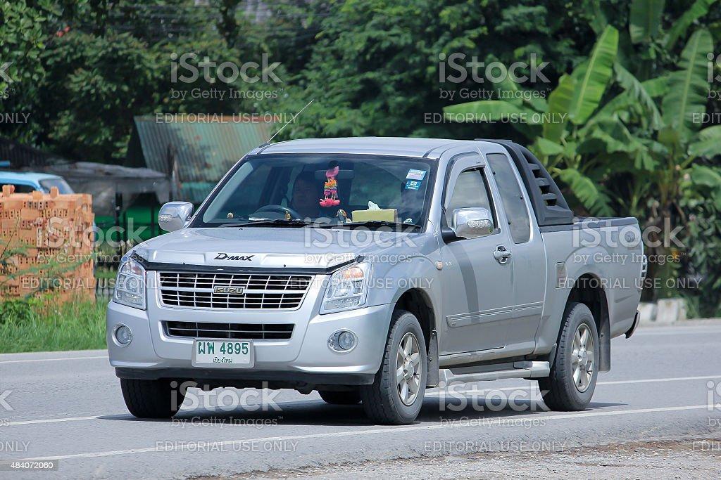 Private car, Isuzu D-max standard cab stock photo