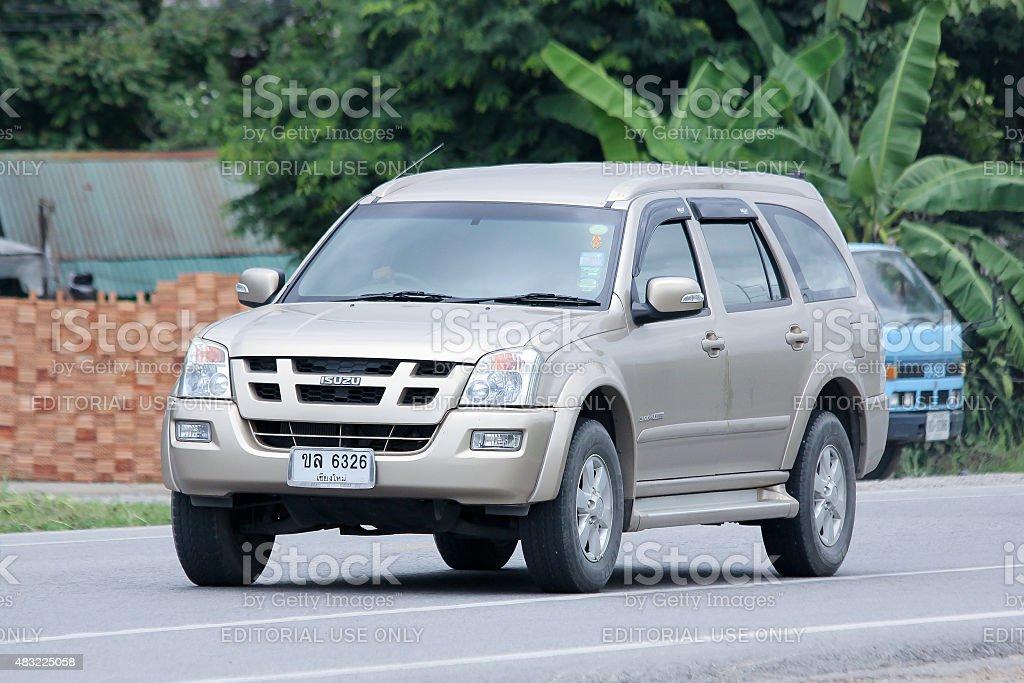 Private car, Isuzu Mu-7. stock photo