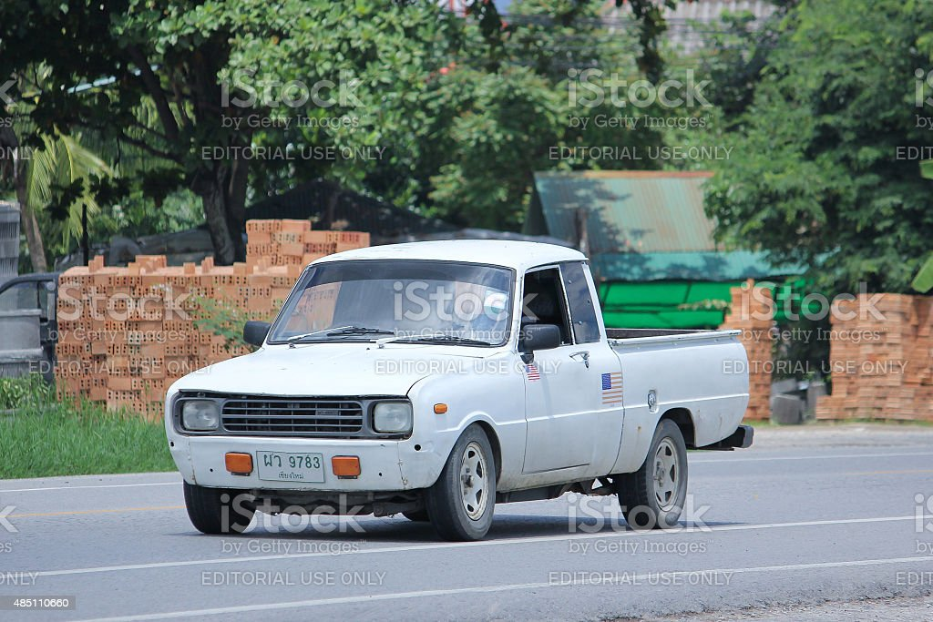 Private car, Mazda Family mini Pick up truck. stock photo