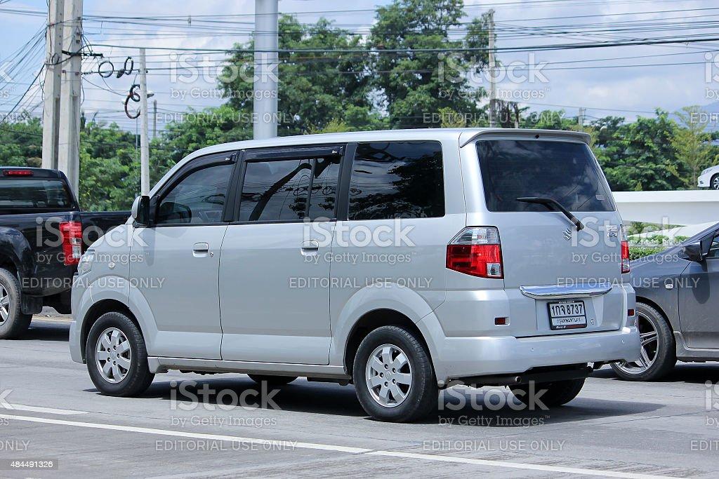 Private car, Mini Van of Suzuki APV stock photo