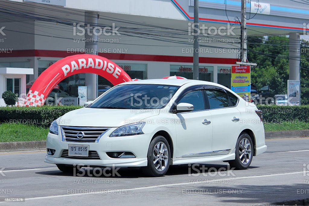 Private car, Nissan Sylphy. stock photo