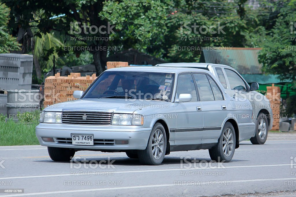 Private car, Toyota Crown. stock photo