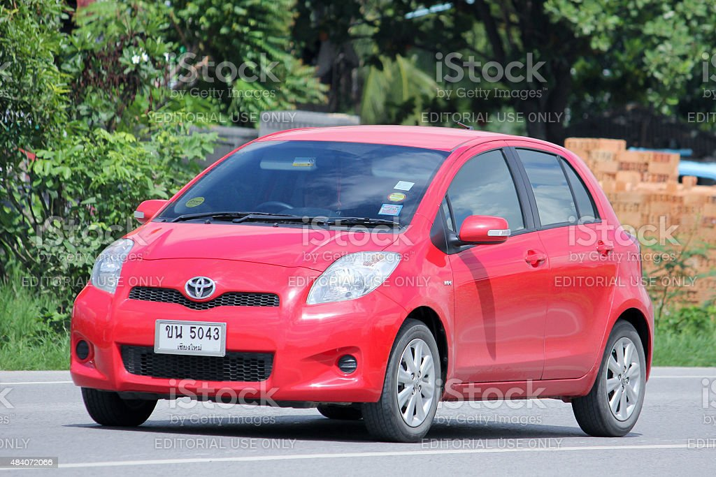 Private car, Toyota Yaris. stock photo