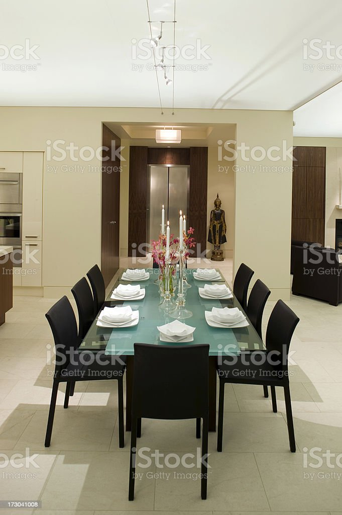 private condominium diningroom entry royalty-free stock photo