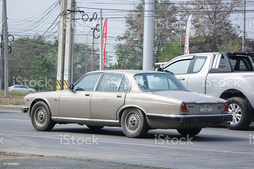 Private Daimler Double-Six SIII  old Car. stock photo
