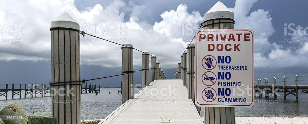 Private Dock stock photo