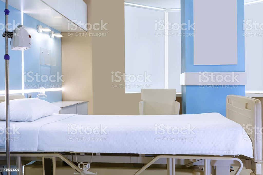 Private Empty Hospital Room stock photo