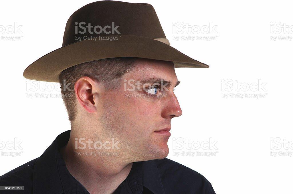 Private Eye in Profile stock photo