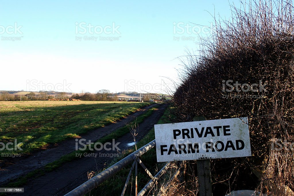 private farm road sign royalty-free stock photo