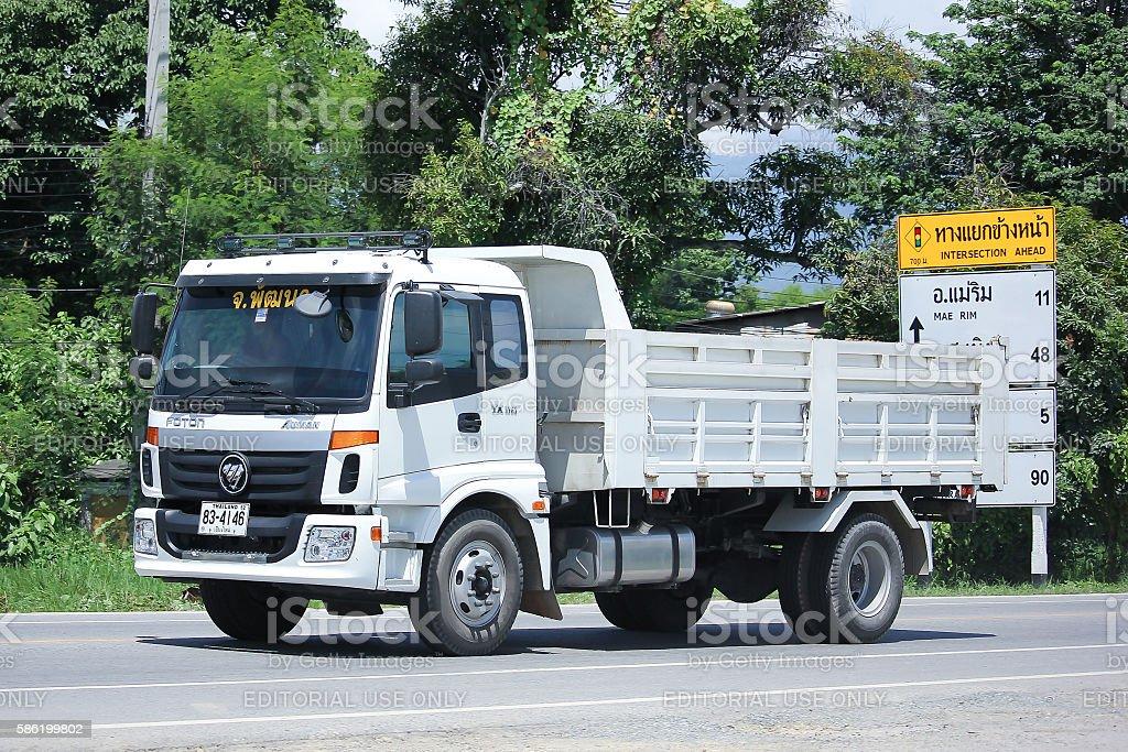 Private Foton Auman Dump Truck. stock photo