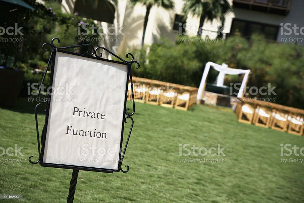 private function royalty-free stock photo