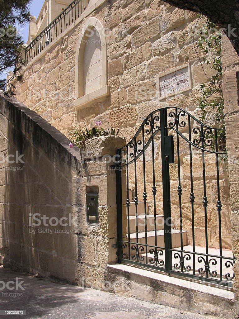 private gate enterance stock photo