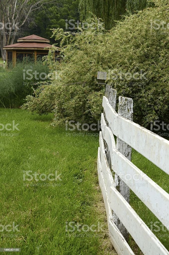 Private Gazebo and Garden area royalty-free stock photo