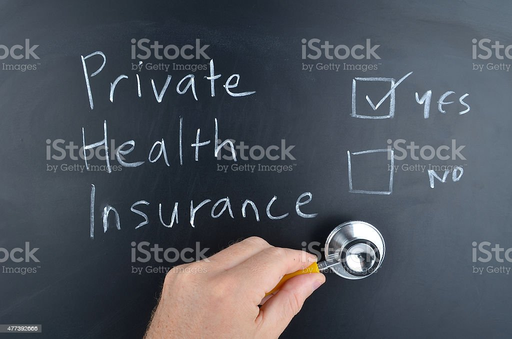 Private Health Insurance Y/N? stock photo