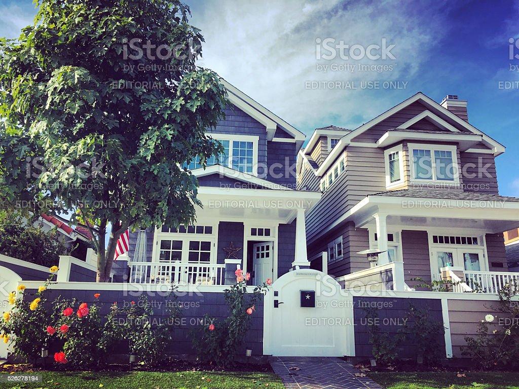 Private house on Coronado Island, USA stock photo