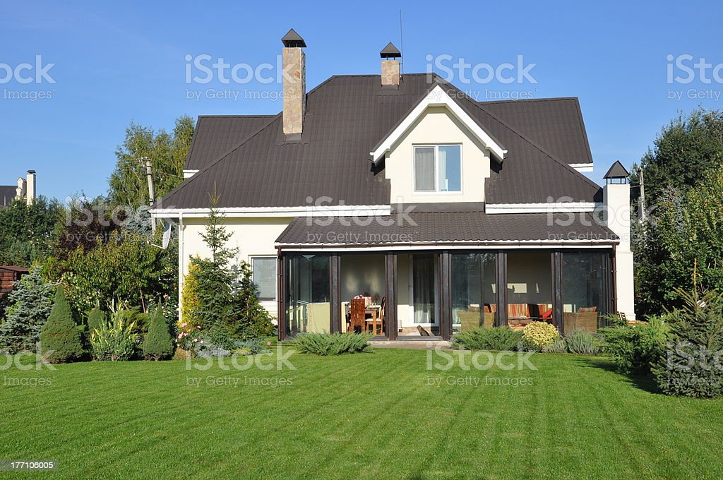 private house stock photo