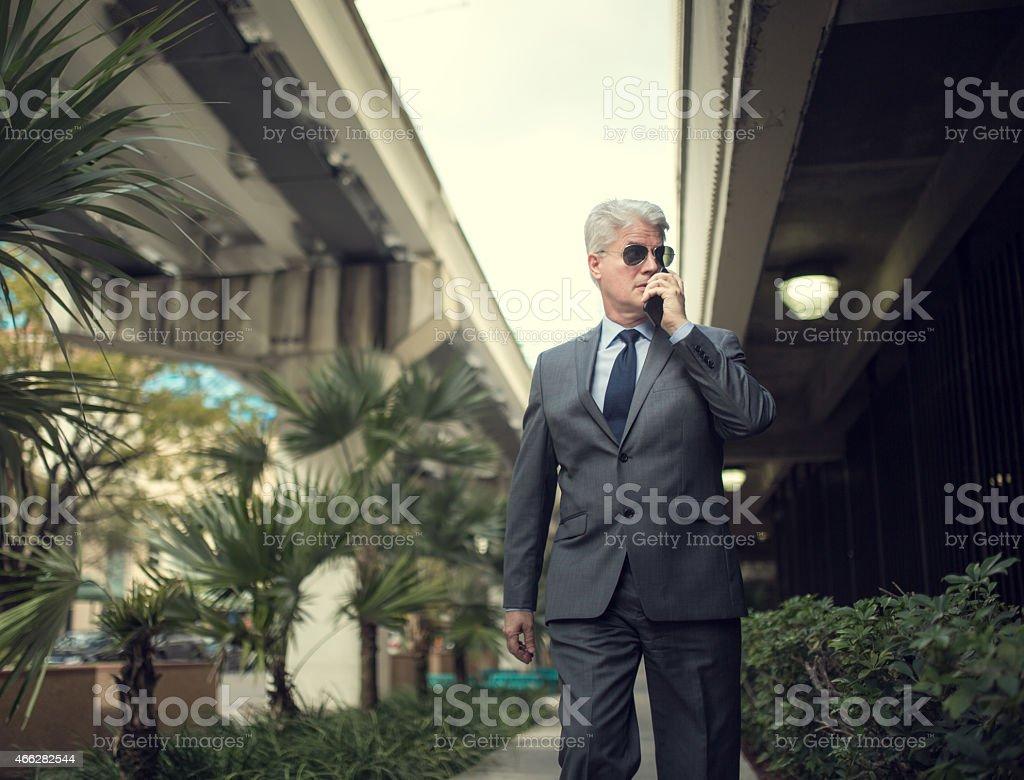 Private investigator working stock photo