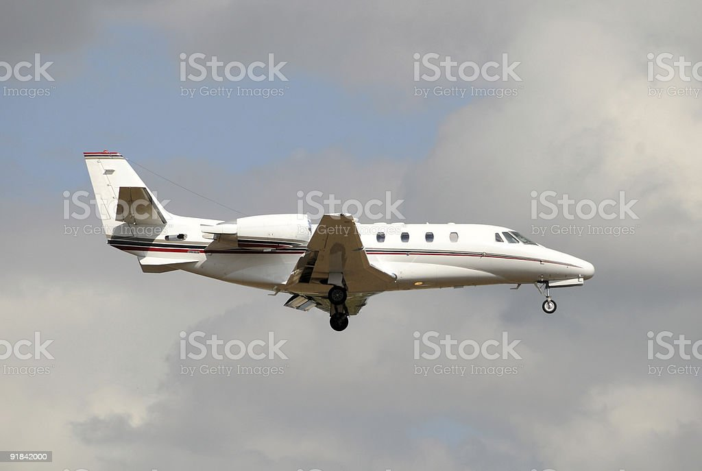 Private jet airplane royalty-free stock photo