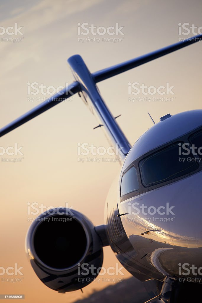 Private Jet Closeup royalty-free stock photo