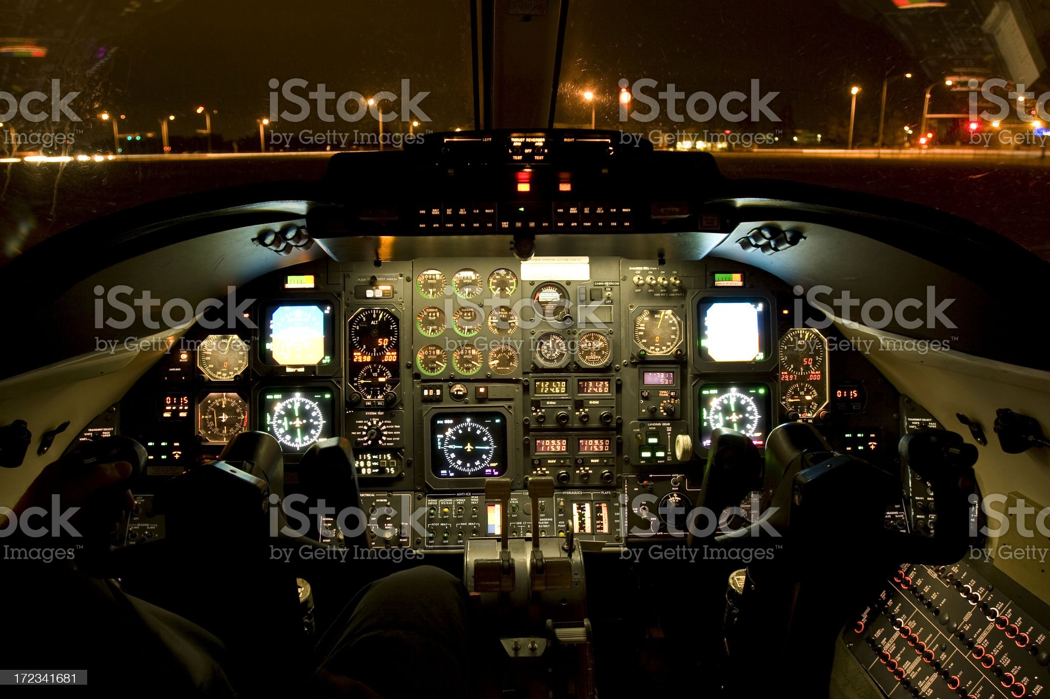 Private Jet Cockpit royalty-free stock photo
