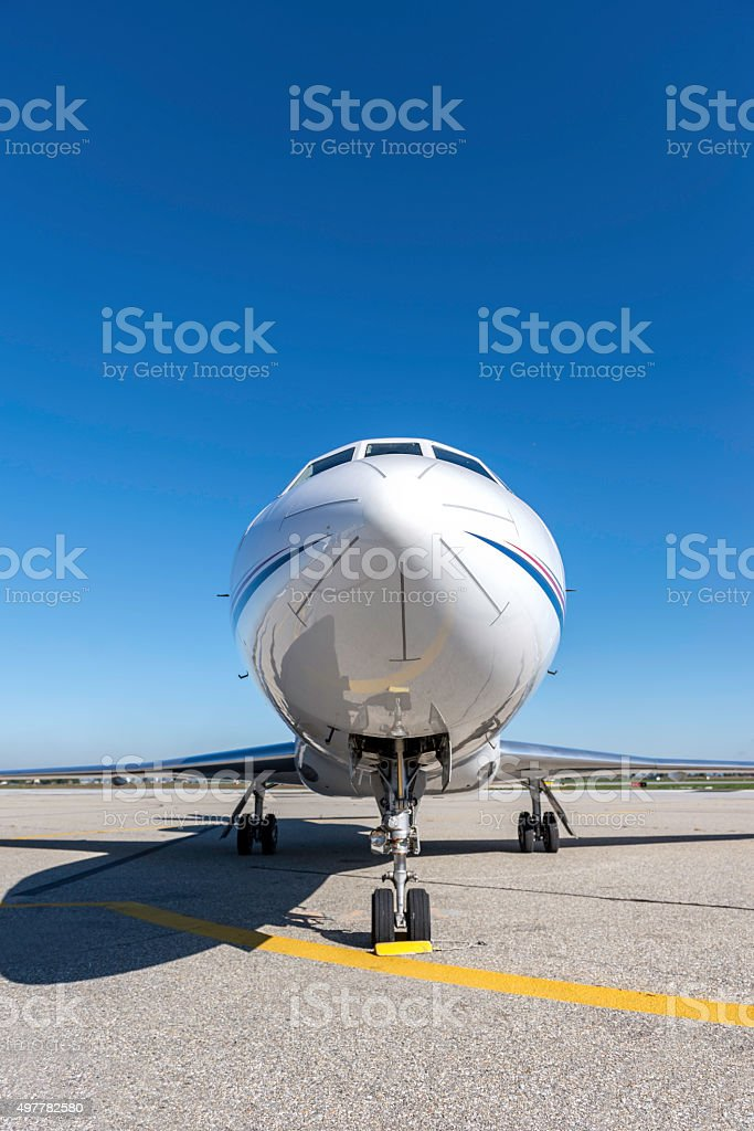Private jet - Nose Cone stock photo