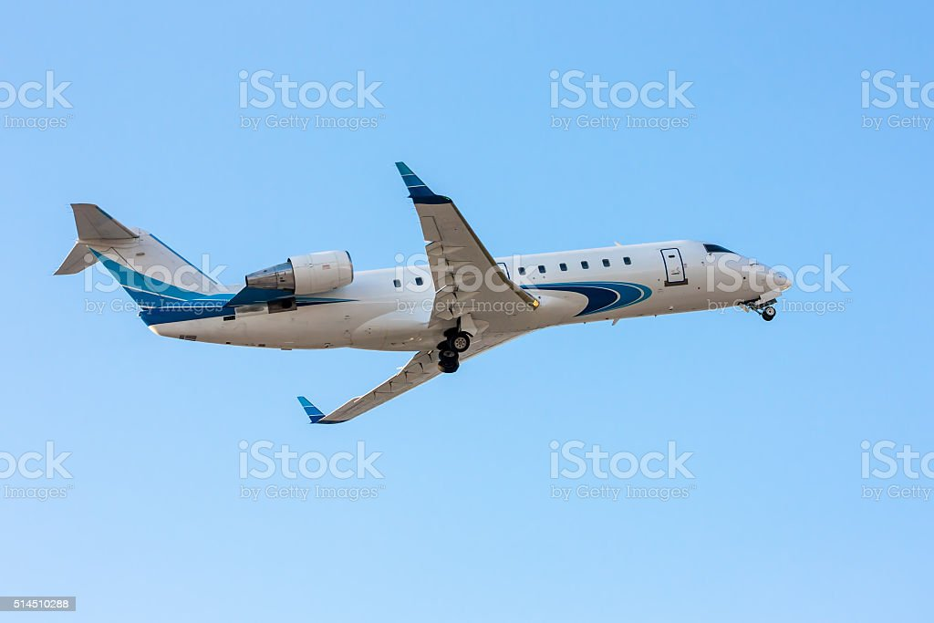 Private jet plane taking off royalty-free stock photo