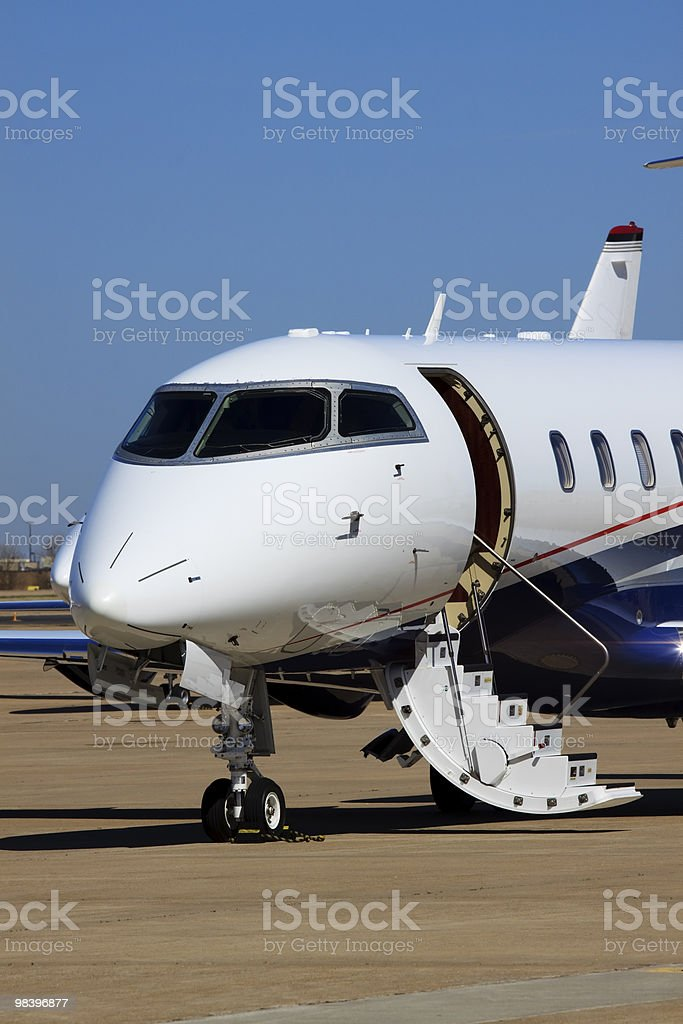 Private Jet Waiting On Passengers XL royalty-free stock photo