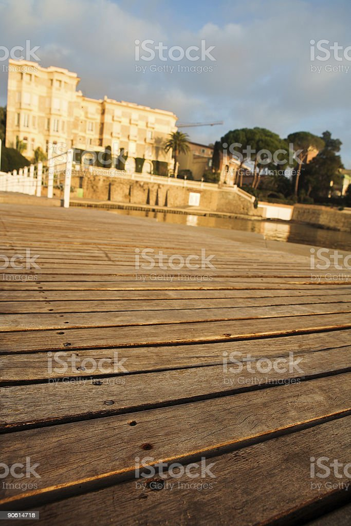 Private jetty in Juan Les Pins royalty-free stock photo