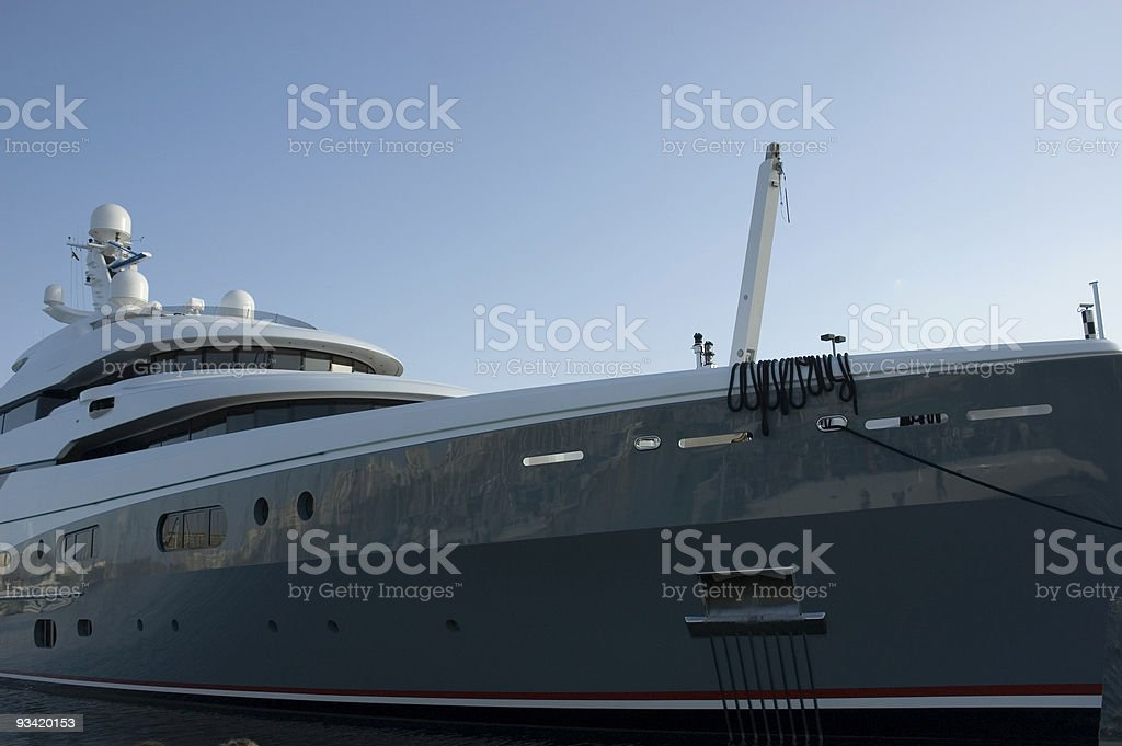 private luxury yacht stock photo