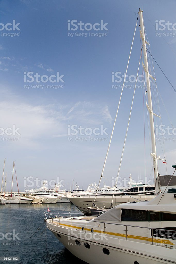 private luxury yachts royalty-free stock photo