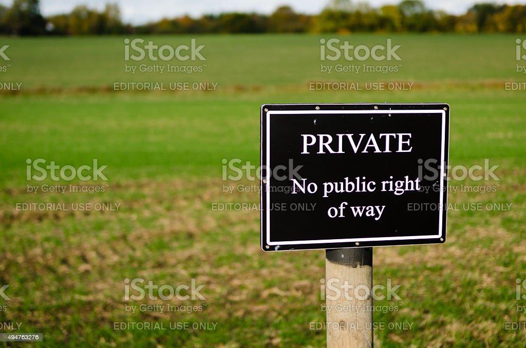 プライベートなしの公衆右方向標識 foto stock royalty-free