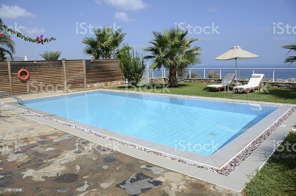 Private oceanside swimming pool royalty-free stock photo