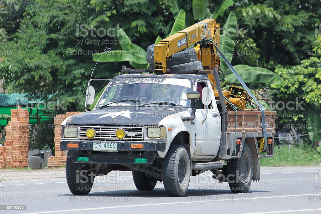 Private old car, Toyota Hilux Hero. stock photo