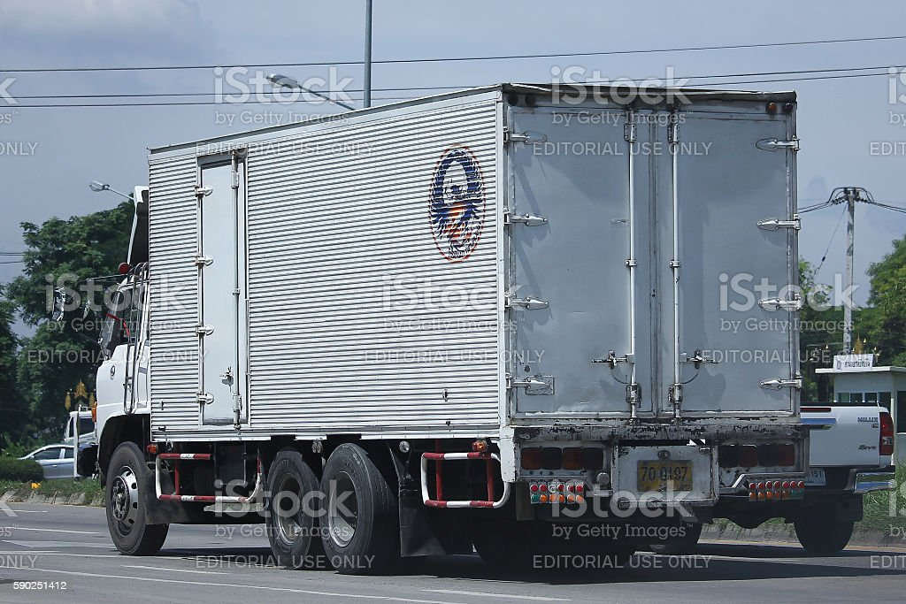 Private Old Hino Cargo truck. stock photo