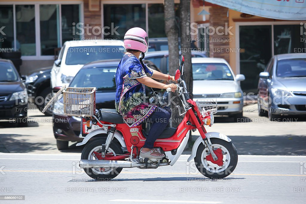 Private Old Honda chaly Motorcycle. stock photo