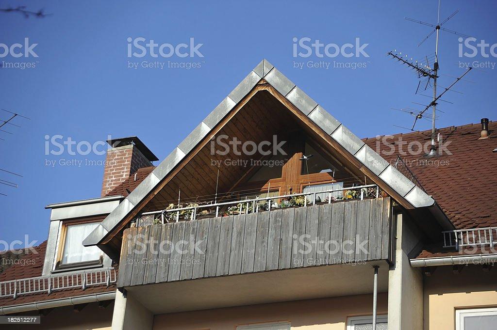 private pediment - Dachgiebel stock photo