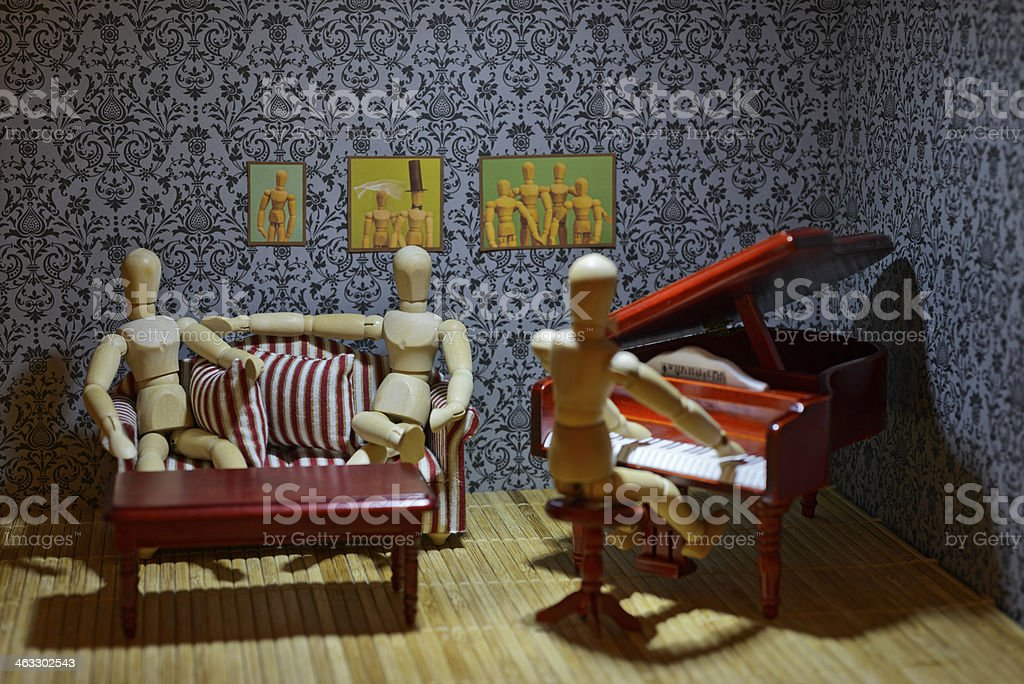 Private piano concert royalty-free stock photo