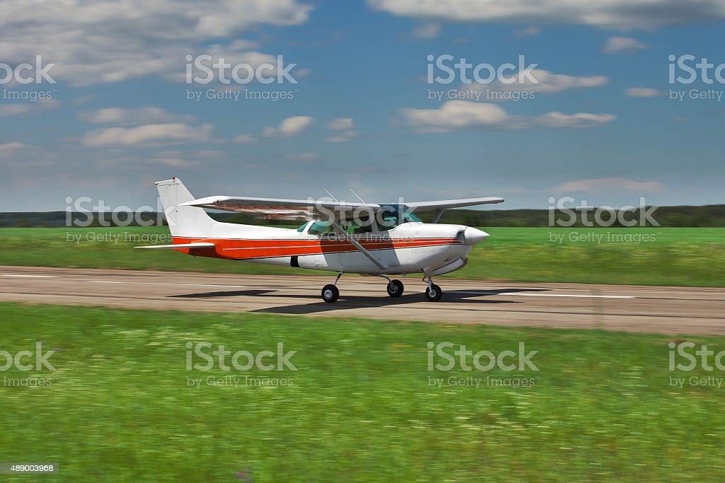 Private plane stock photo
