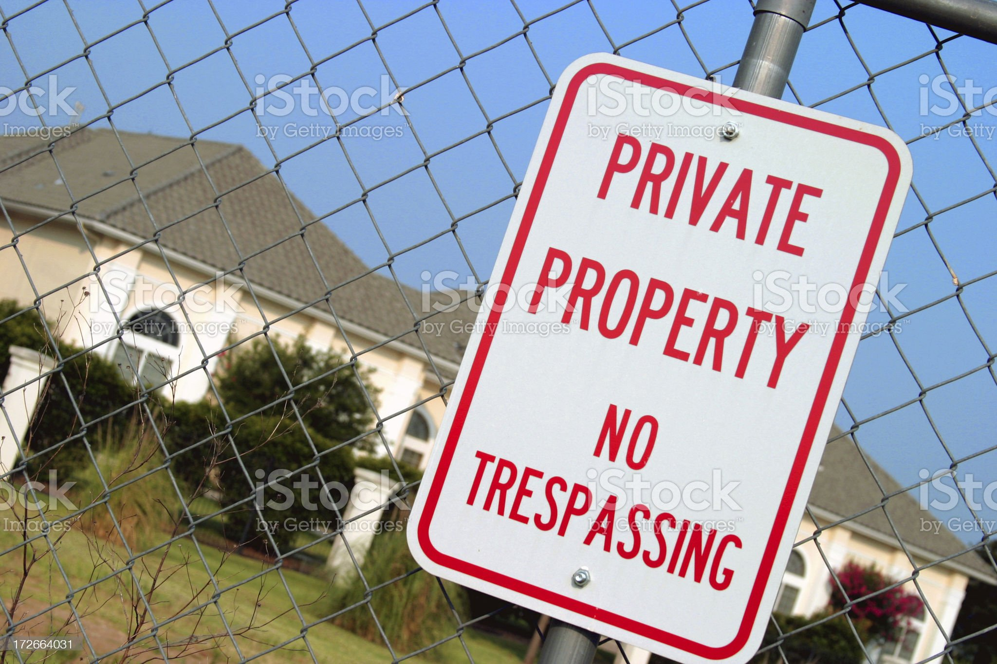 Private Property 2 royalty-free stock photo