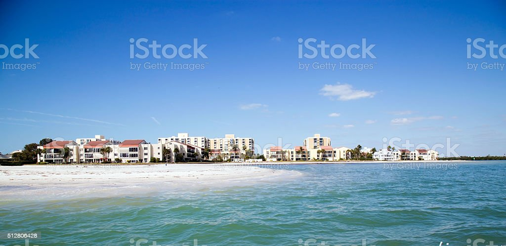Private Property At Clearwater Beach stock photo