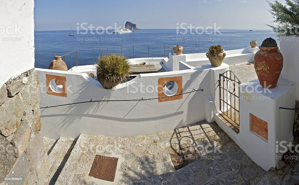 Private property in Panarea, Italy stock photo