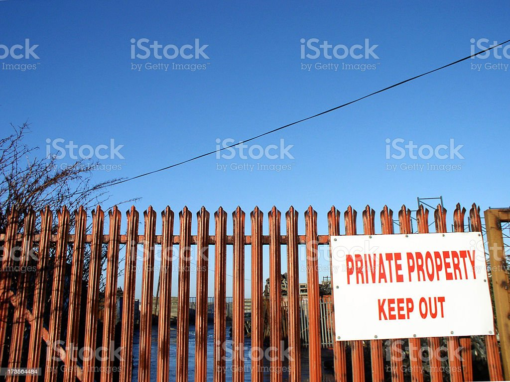 private property keep out stock photo