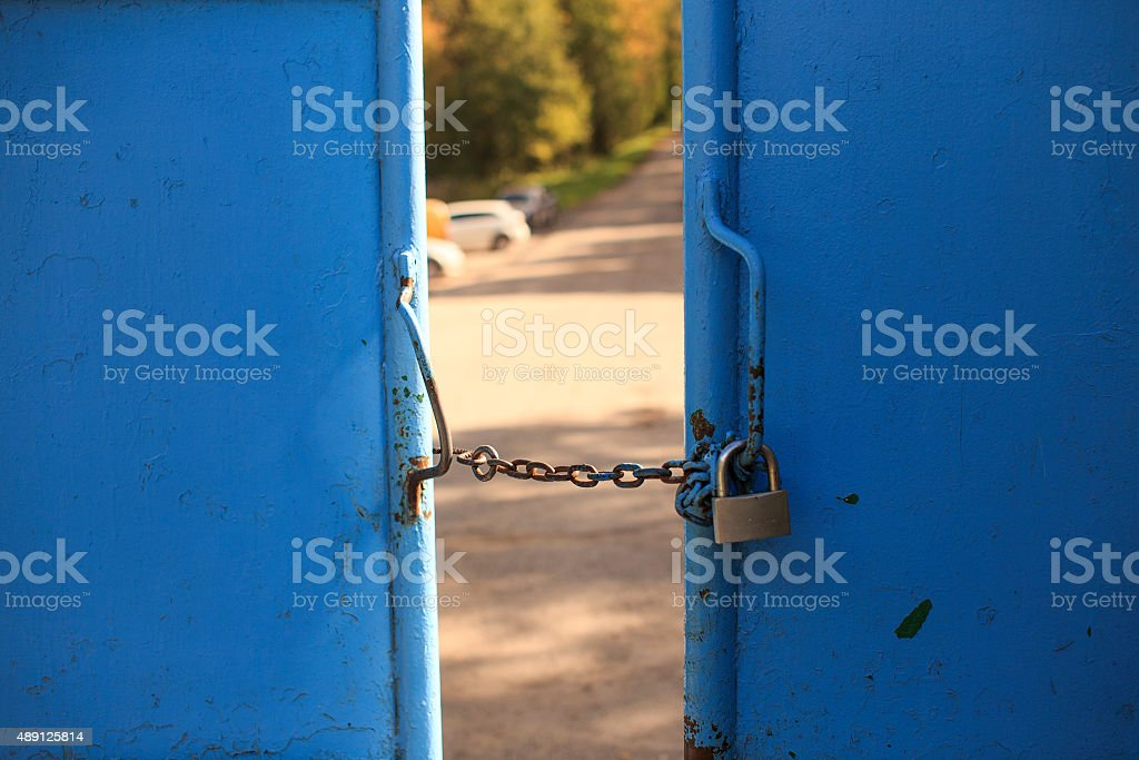 private property no access stock photo