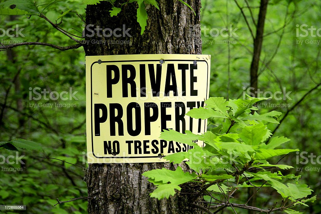 Private Property Sign royalty-free stock photo