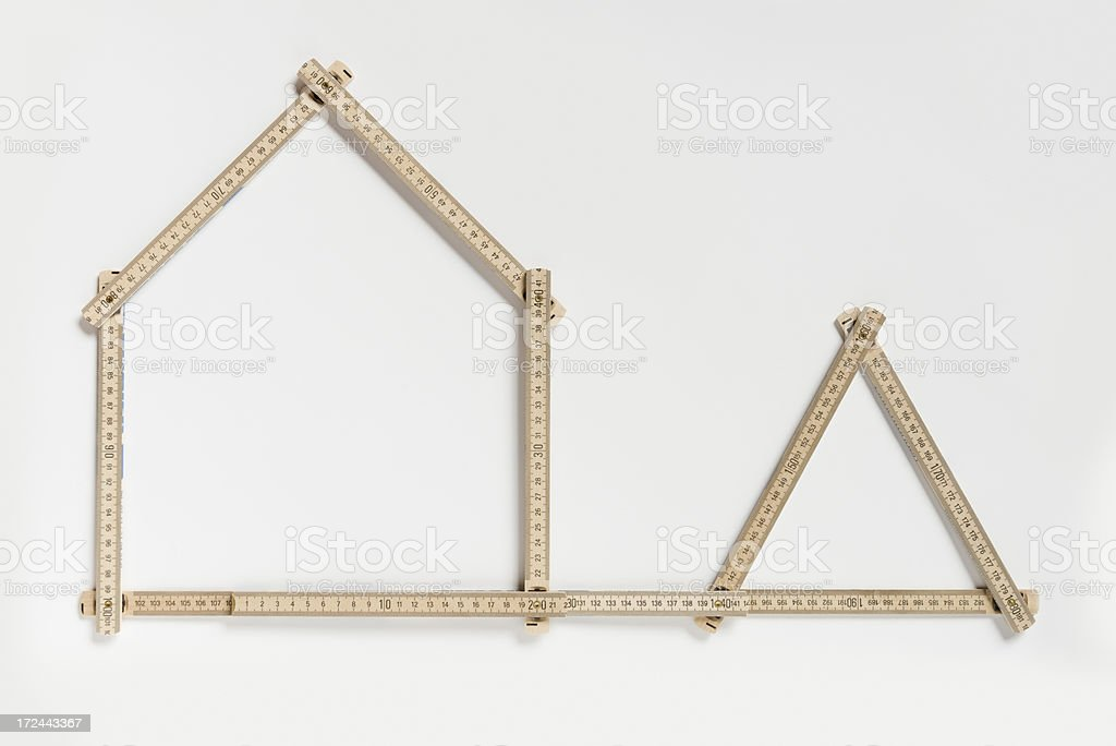 Private residential building planning  (XXXLarge) royalty-free stock photo