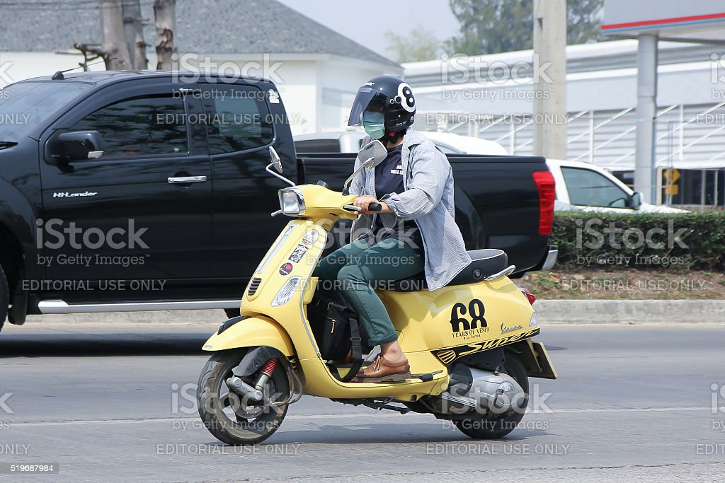 Private Scooter Motorcycle Vespa. stock photo